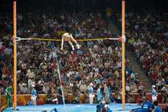 женщина vaulter полюса Стоковое Изображение RF