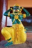 Женщина Yaksha в монастыре Ya животиков Tai или виске тонны Roi Sao, Мьянме Стоковые Изображения
