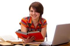 женщина yong whit студента книги Стоковое Изображение RF
