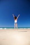 женщина zahara пляжа счастливая супер Стоковые Фото