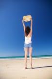 женщина zahara сторновки шлема пляжа Стоковое фото RF