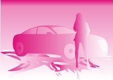 женщины автомобиля иллюстрация вектора