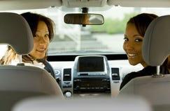 женщины автомобиля Стоковое Изображение