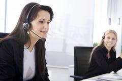Женщины агента Callcenter Стоковое Изображение RF