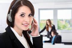 Женщины агента Callcenter Стоковые Изображения