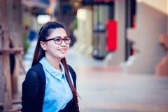 Женщины Азии в нерабочем дне ослабляют на городе Стоковое Фото
