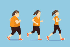 Женщины бежать для уменьшения Стоковая Фотография RF