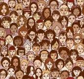 Женщины - безшовная картина иллюстрация вектора