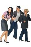 женщины бизнес-группы идущие Стоковые Изображения