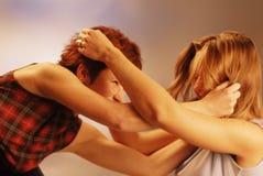 женщины бой Стоковые Фотографии RF