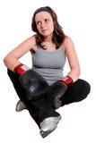 женщины бокса молодые Стоковое Фото