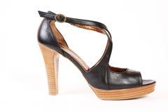 женщины ботинка пяток высокие Стоковые Изображения