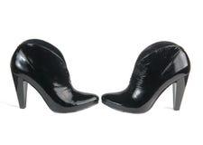 женщины ботинок лодыжки черные Стоковые Фото