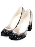женщины ботинок причудливой пятки высокие Стоковые Фото