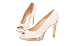 женщины ботинок пятки способа высокие сексуальные Стоковое Фото