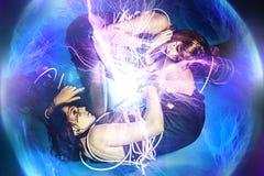 2 женщины будущего, близнец, будущая концепция Стоковая Фотография RF