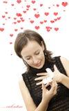 женщины Валентайн влюбленности дней падая Стоковое Изображение RF