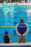 женщины воды поло s Италии Стоковое фото RF