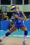 женщины волейбола Италии s fivb чемпионата Стоковая Фотография RF