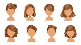 Женщины волос иллюстрация вектора