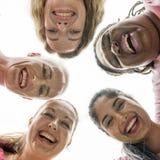 Женщины воюя концепцию рака молочной железы стоковая фотография