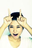 женщины выражения молодые Стоковые Фотографии RF