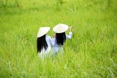 Женщины Вьетнама задней стороны 2 Стоковая Фотография