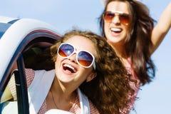 Женщины в автомобиле Стоковые Фотографии RF