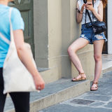 Женщины в городе Стоковые Фотографии RF