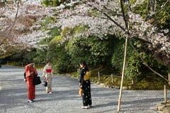 Женщины в костюме японца Стоковое Фото