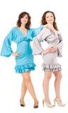 2 женщины в мантиях вечера Стоковые Фото