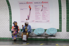 Женщины в метро Парижа Стоковое фото RF