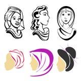 Женщины в мире Иллюстрация штока
