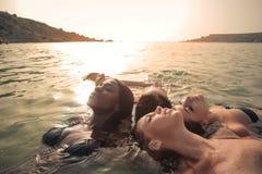 Женщины в море стоковая фотография rf