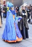 2 женщины в обильных масках на параде масленицы, Штутгарте Стоковое Фото