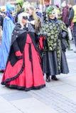 Женщины в обильных масках на параде масленицы, Штутгарте Стоковые Изображения RF