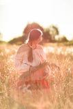 Женщины в поле пшеницы Стоковое Изображение RF