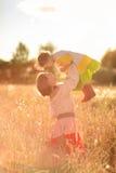 Женщины в поле пшеницы Стоковое фото RF