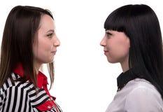 2 женщины в профиле - бизнес-партнере Стоковая Фотография