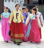 Женщины в Сеуле Стоковые Изображения