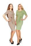 2 женщины в современном платье Стоковые Фотографии RF