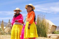 Женщины в традиционных платьях Стоковое Изображение