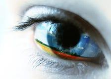 женщины глаза Стоковое Изображение