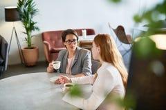 Женщины говоря в кафе Стоковое Изображение RF