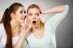 2 женщины говоря сплетню Стоковая Фотография RF