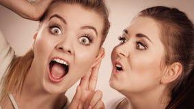 2 женщины говоря сплетню Стоковое фото RF