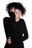 женщины головной боли терпя Стоковое Фото