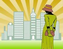 женщины города гуляя Стоковое Фото