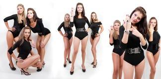 женщины группы коллажа bodysuits горячие молодые стоковые изображения