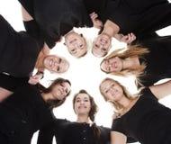 женщины группы молодые стоковые фото